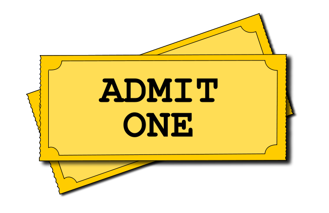 Admit One Movie Ticket image