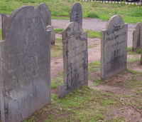 image of graves in Salem, Mass.